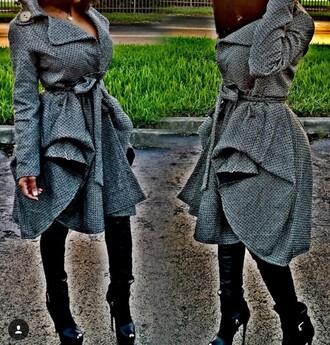 jacket grey warm sexy