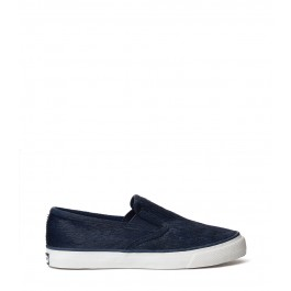 Sperry Top-Sider for Jeffrey Navy Slip On Pony Hair Sneaker - ShopBAZAAR