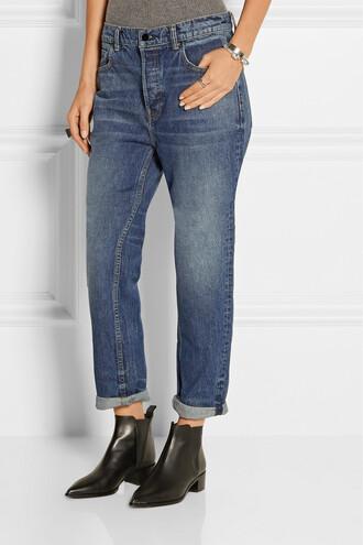 jeans slouchy blue jeans loose jeans boyfriend jeans