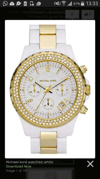jewels white gold glitter watch michael kors michael kors watch