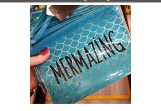 bag mermaid glitter pouch