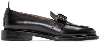 bow loafers leather black black leather shoes