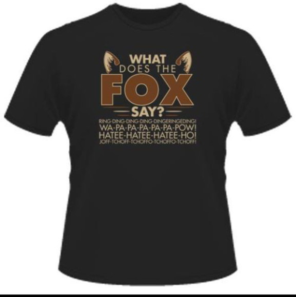 shirt orange shirt what does the fox say fox black mens t-shirt