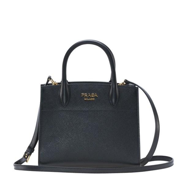 Prada mini bag tote bag white black
