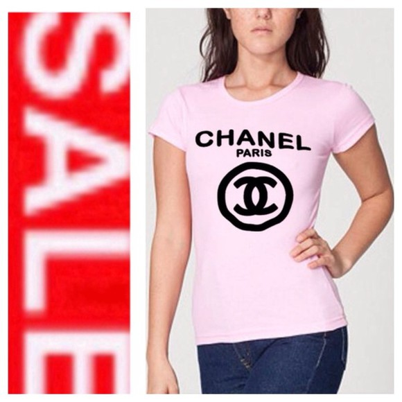 t-shirt chanel t-shirt chanel inspired coco, chanel, black, red, affordable, inspired, celebrity, chanel shirt