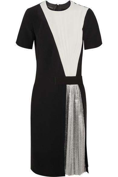 Cédric Charlier | Crepe and silk-blend lamé mini dress | NET-A-PORTER.COM