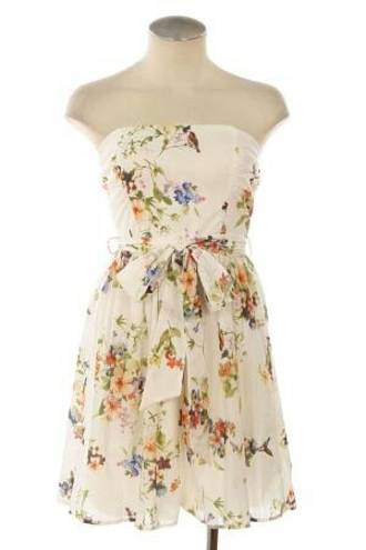 dress floral chiffon dress bow belt bird print