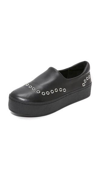 metal sneakers black shoes