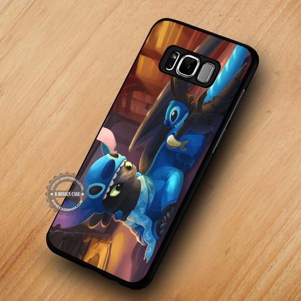Stitch and Toothless Disney - Samsung Galaxy S8 S7 S6 Note 8 Cases & Covers #SamsungS8