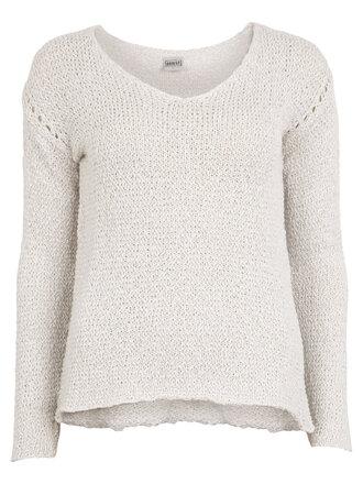 sweater beige v neck knit knitwear knitted sweater fine knit jumper pullover fine knit jumper