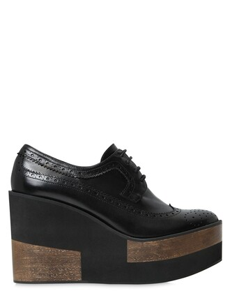 wedges leather wedges leather black shoes