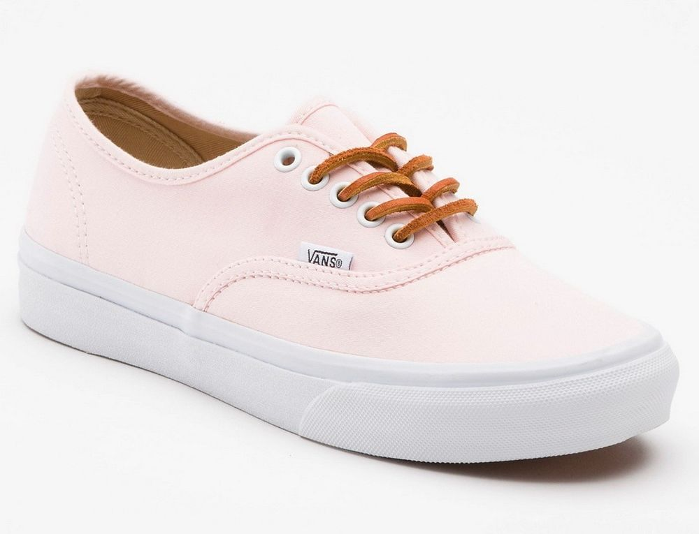 Vans authentic (brushed twill) soft pink women's skate shoes size 10.5 us
