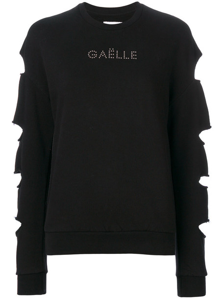 Gaelle Bonheur jumper long women cotton black sweater