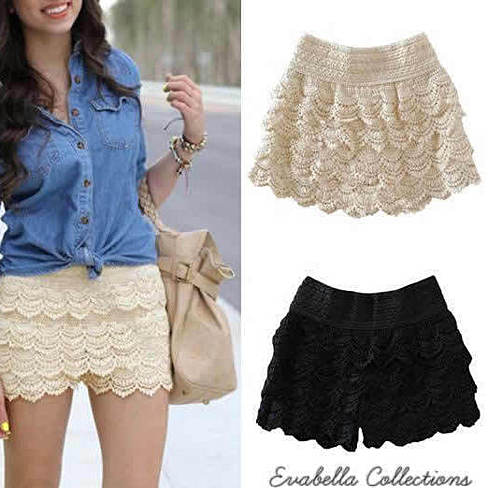 Crochet shorts get in to the summer fun ware.