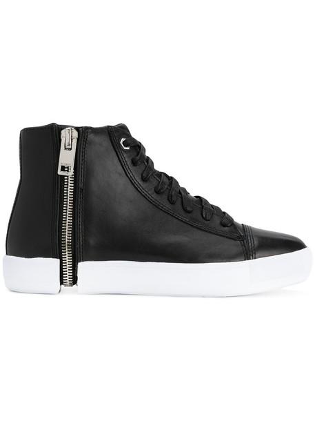 Diesel women sneakers leather black shoes