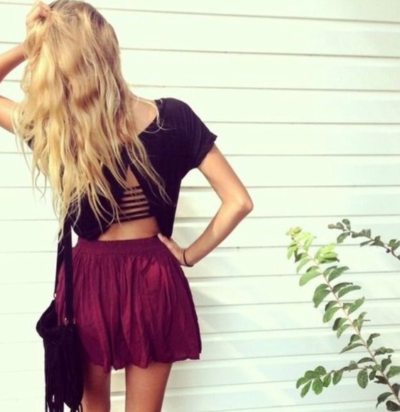 top backless black