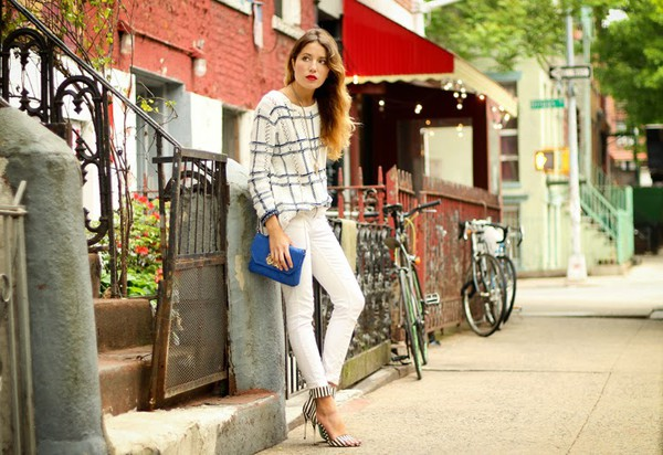 the marcy stop sweater jeans bag jewels shoes