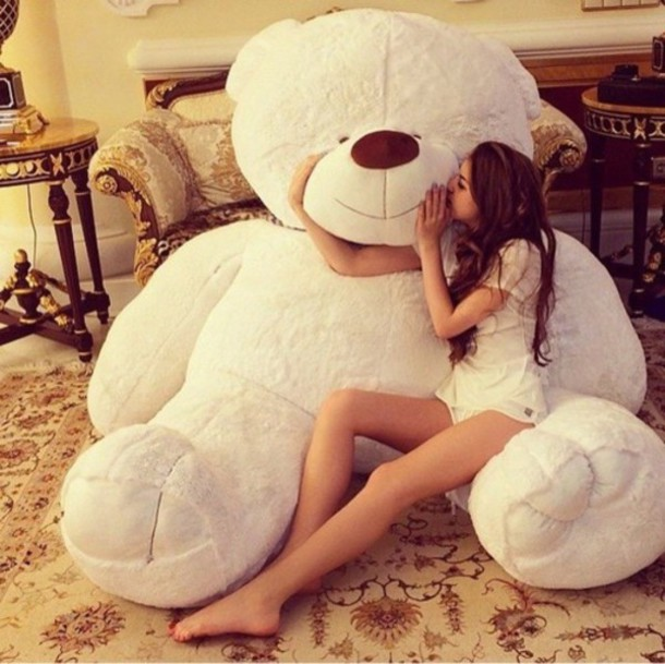 jewels giant bear home accessory huge white life size teddy bear plush teddy bear stuffed animal white adorable af lovely cute brown cuddly bear Costco giant giant teddy bear tedy bear