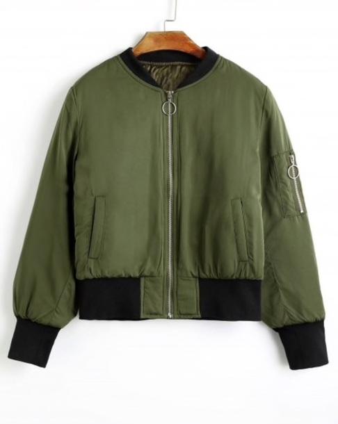 jacket girly green olive green bomber jacket black