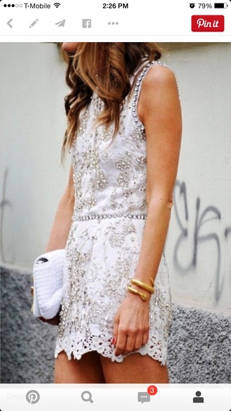 dress white dress short dress lace dress lace wedding dresses cocktail dresses mini dress sparkle dress style beige dress hairstyles pretty little liars jewlery bracelets clutch cream dress cream high heels high heels texture