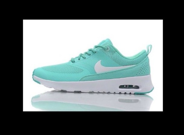 shoes, nike air max thea, mint, blue, nike Wheretoget
