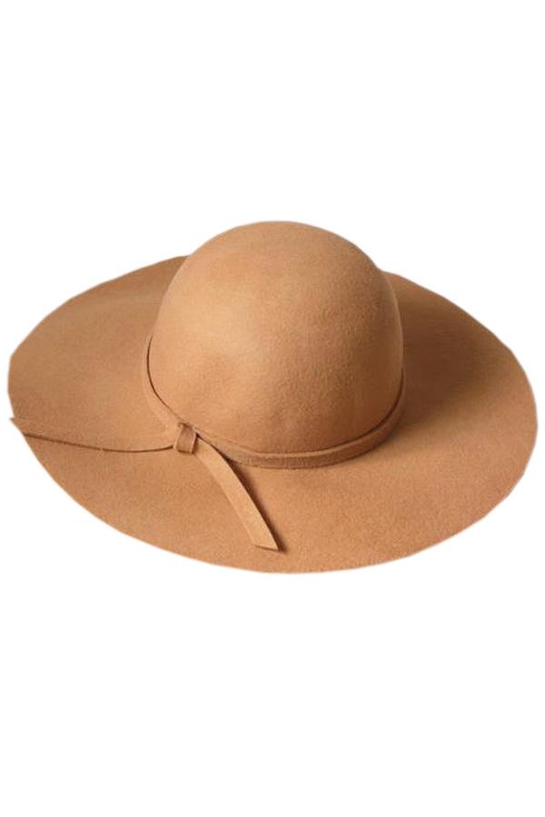 Broad Brim Wool-blend Hat - OASAP.com