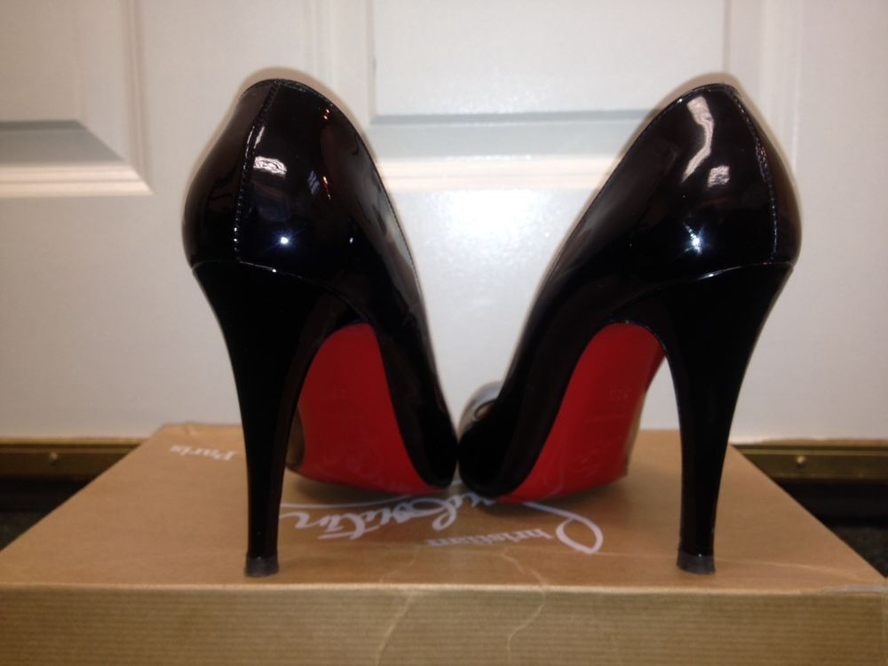Auth Christian Louboutin Decollete Patent Leather Pump Size 36 5 $385 | eBay