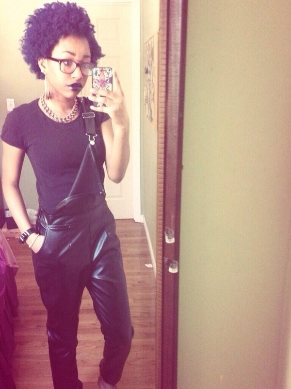 pants leather black goth hipster black leather pants