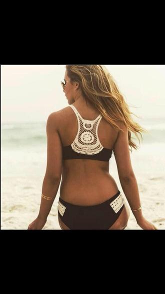 swimwear bikini bohemian black and white