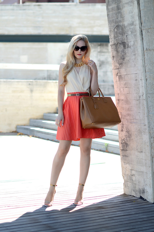oh my vogue skirt top shoes bag jewels sunglasses