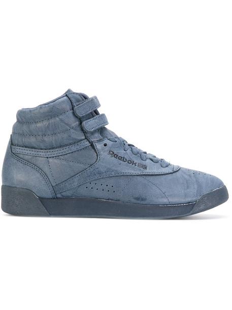 Reebok - strappy sneakers - women - Leather/Polyester/rubber - 10, Blue, Leather/Polyester/rubber