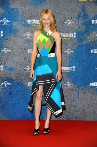 dress asymmetrical elizabeth banks