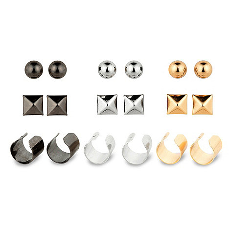 Ear cuff and stud earring set at debenhams.com