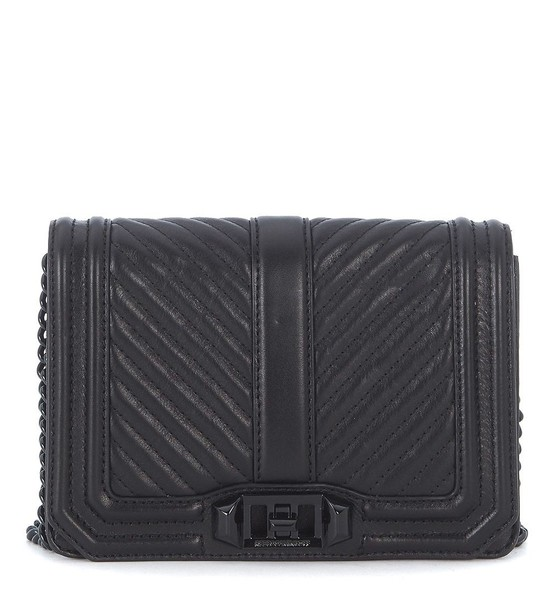 Rebecca Minkoff love quilted bag shoulder bag leather black