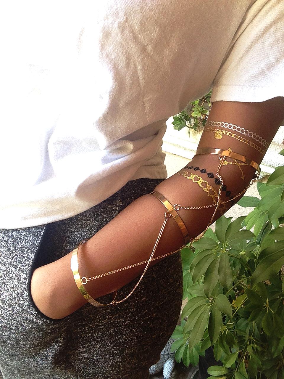 Triple Chain Arm Cuff – Gold Soul