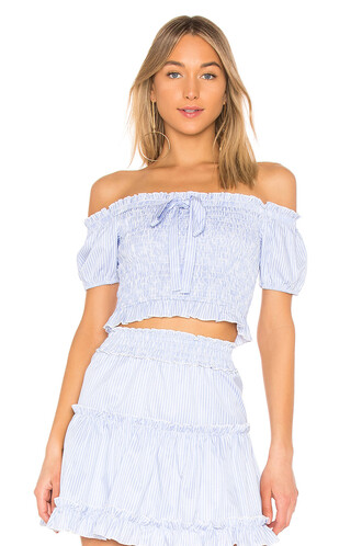 top off the shoulder blue