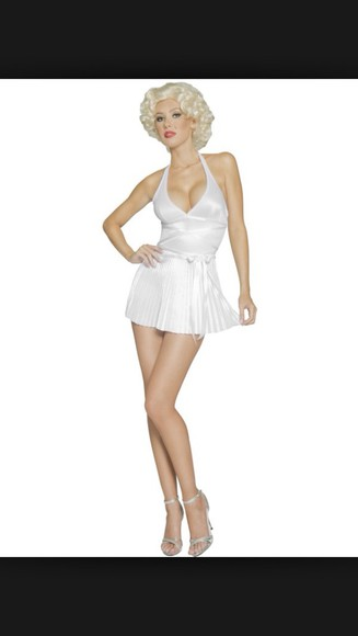marilyn monroe white white dress costume