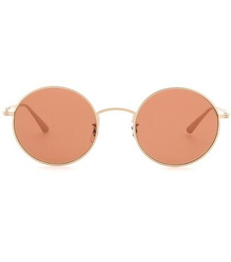 sunglasses round sunglasses brown