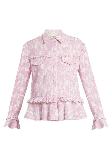 Preen Line jacket floral print light pink light pink