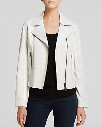 Elie tahari cracked leather roxie jacket
