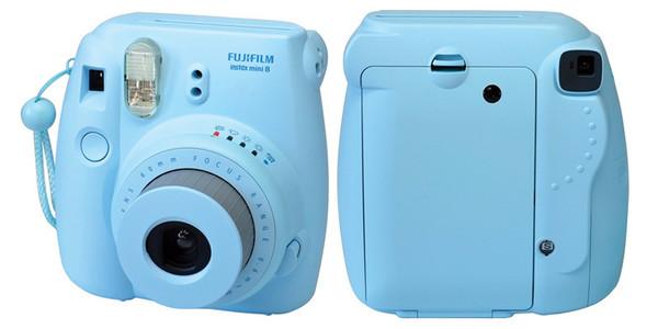 home accessory camera instaxmini8 trendy blue pastel pastel blue hipster retro photography light blue belt