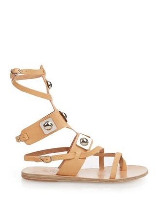 sandals leather sandals leather tan light shoes