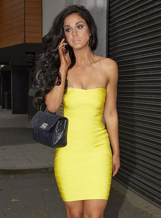dress bqueen fashion girl lady chic sexy yellow elegant bandage party clubwear bandage dress evening dress