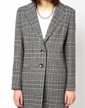 Helene Berman | Helene Berman Classic College Coat in Mixed Check at ASOS