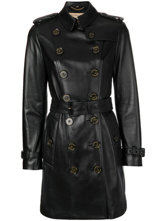 coat double breasted women black