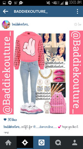 mickey mouse hands,outfit,outfit idea,baddiekouture_,bag,jewels