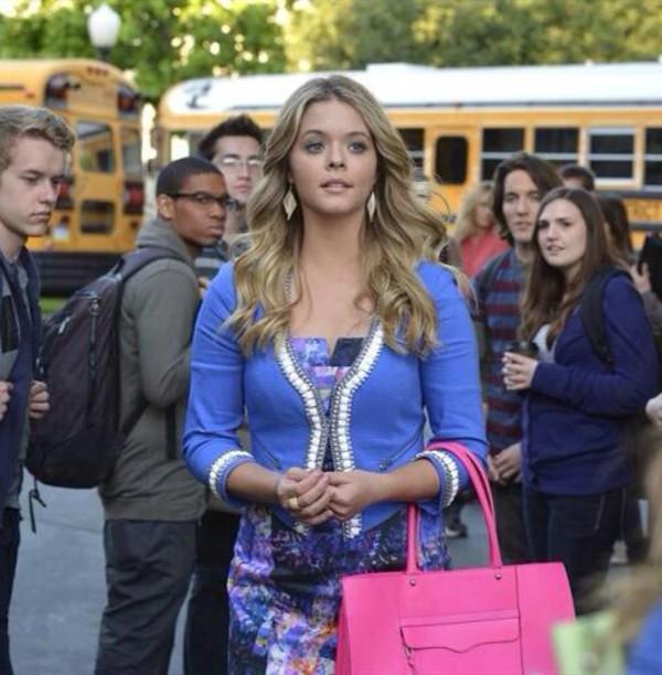 bag pink purse pretty little liars cute jacket
