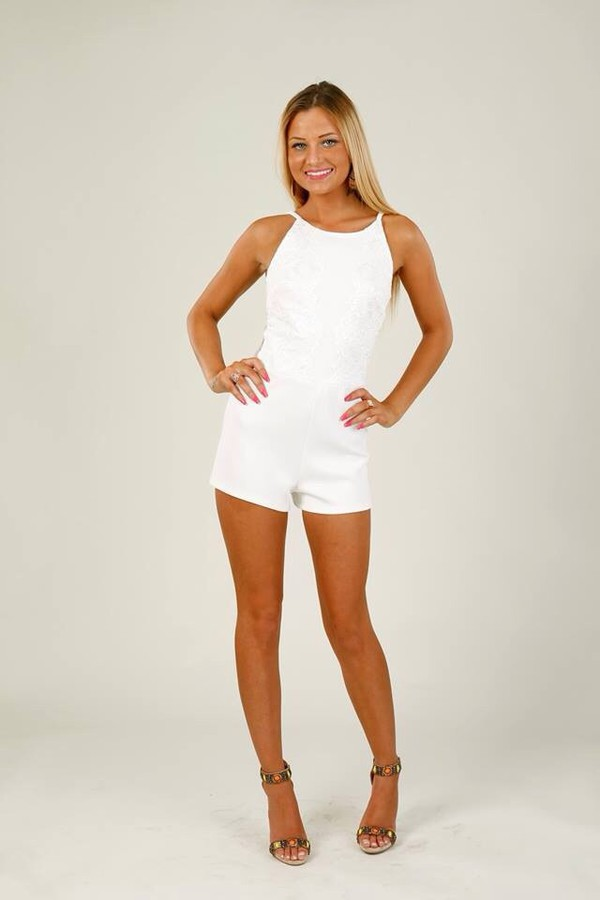 white romper romper allinone live floral mesh beautiful summer holidays beach
