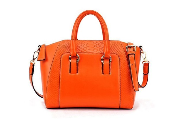 bag handbag orange women fashion style