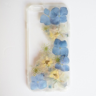 phone cover summer summer handcraft blue hydrangea flowers floral cute cool handmade handcraft iphone case iphone 6s iphone 6s plus samsung s6 trendy fashion birthday gift forher valentines day gift idea mothers day gift idea holiday gift gift ideas girly iphone cover iphone iphone 5 case samsung galaxy cases